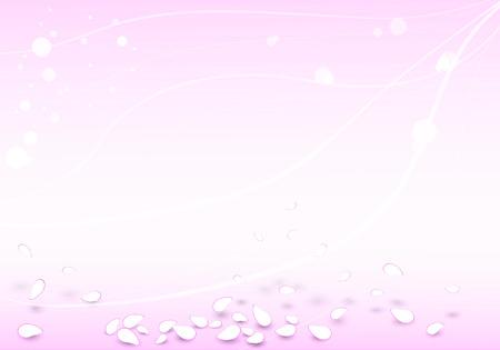 white lines: astratto sfondo rosa con petali che cadono e linee bianche Vettoriali