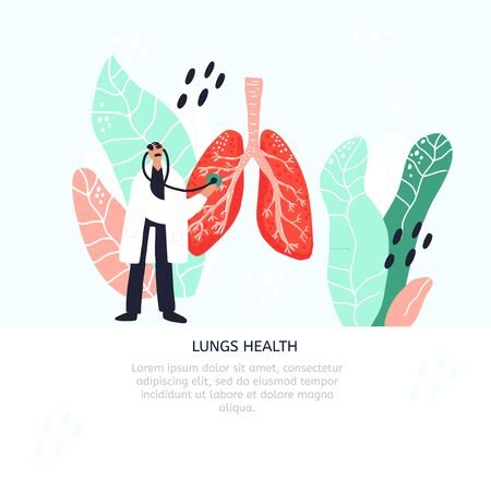 Lungs health diagnostics banner template