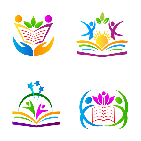 university sign: The purpose of the education symbols used for school, college and university sign and symbol. Illustration