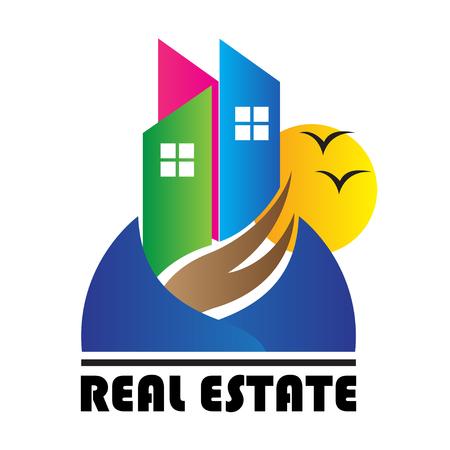 Le but de la conception du logo utilisé pour l'immobilier et la construction.