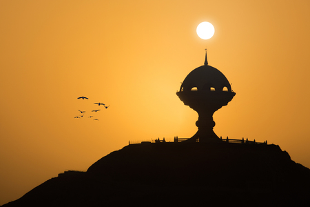 muttrah: Sunset in Muttrah Stock Photo