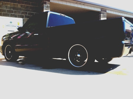 lowered: Lowered Silverado On 20s