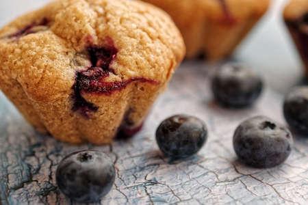 Close-up of a homemade blueberry muffin Standard-Bild