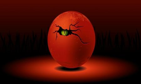 Dragon egg illustration