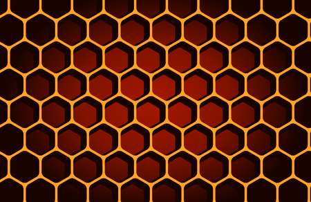 hexagon, horizontal, people, macro Vector