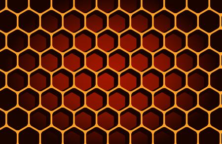hexagon, horizontal, people, macro Vector