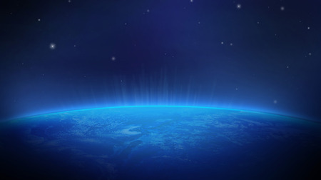 Earth from Space Color blue on a background