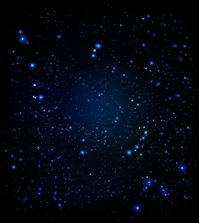 space light and bright stars of deep dark and infinite space sesvitu Vector