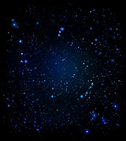 hosszú expozíció: térben fény és fényes csillag a sötét és végtelen tér sesvitu Illusztráció