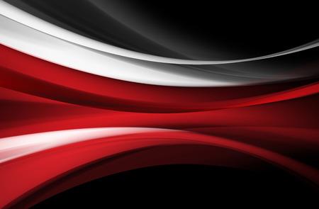 白赤灰色の線は黒の背景に三次元効果を作成します。