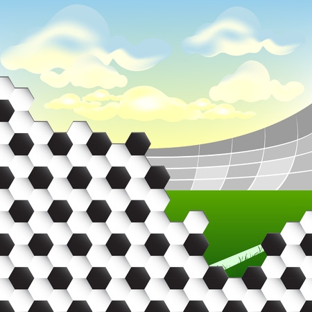 background for the announcement of a football mach background football stadium Vector
