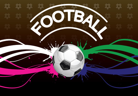 background for the announcement of a football mach foreground soccer ball Vector