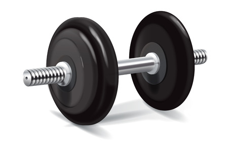 gray black dumbbell with variable metal pancake Stock Vector - 28295163