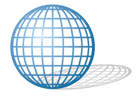 latitude: latitude planetyt round or spherical type Earth Illustration