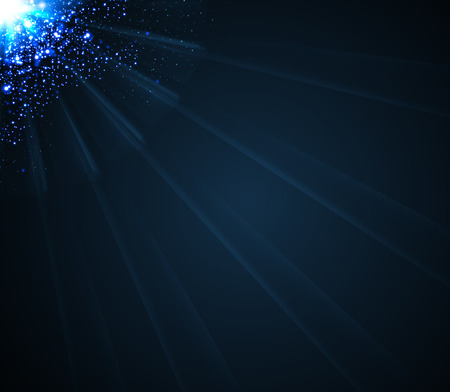 abstract cosmic radiance of the light rays which penetrate the limitless expanse of cosmic darkness Vector