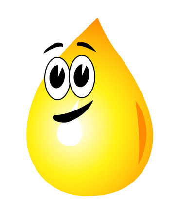 A drop of oil face with black eyebrows and mouth Vector