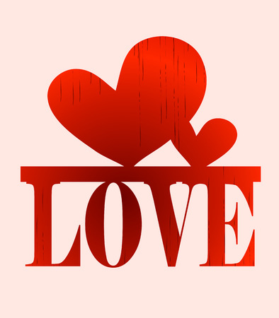 creative writing letters word love with a heart print Vector