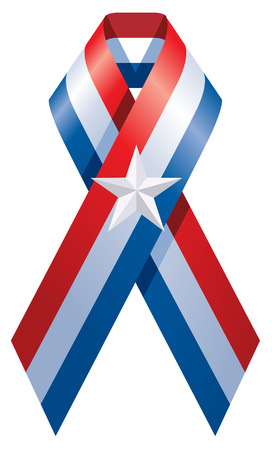 america tape symbol of the international fight against acquired immune deficiency syndrome, human Vector