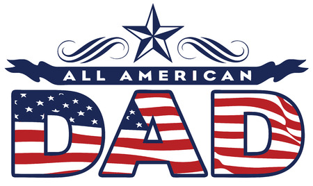 International Day of the father in the patriotic colors of the flag of America Vector