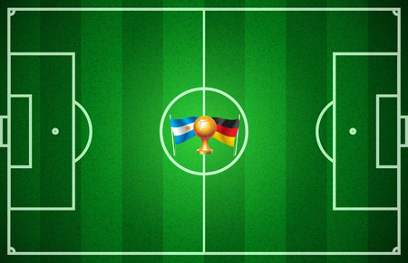 disappearing point: Argentina against Germany in football championship Illustration
