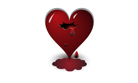 heart suffering from love and its consequences Ilustração