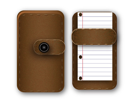 brown Notepad for notes of the backstop image Vector