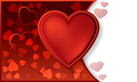vidkrytka abstract heart background hearts to Valentine s Day photo