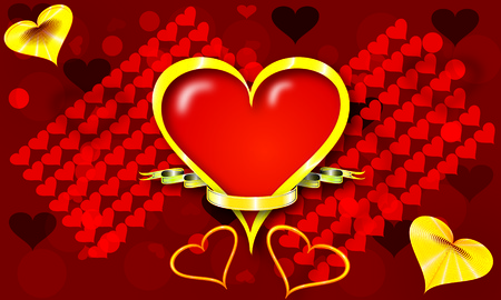 Valentine background of abstract hearts photo