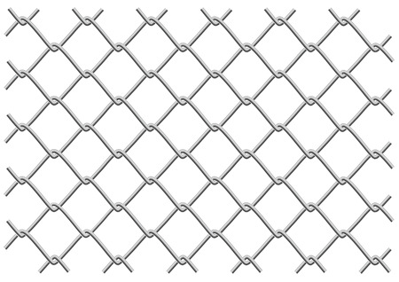 metal mesh fence as a background or object tryde Vector