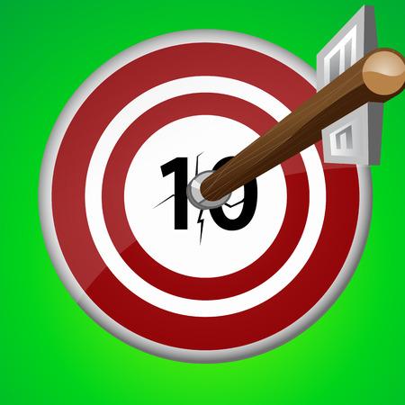 e recruitment: wooden arrow pierced the ten target