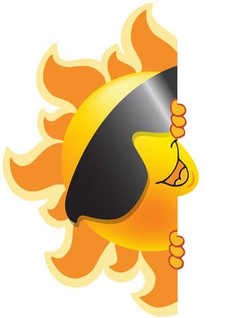 てんとう虫サングラス ベクトルとして太陽と夏の絵文字のシンボル  イラスト・ベクター素材