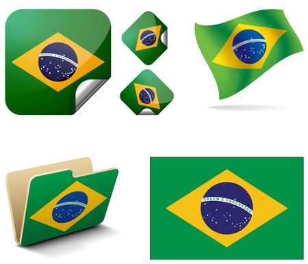 republic of ecuador: Flag of Brazil  Flag of Brazil, as a folder  Brazil flag in the wind  Flag of Brazil rombikom