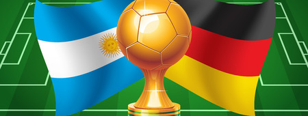 Argentina Germany  Final  Football 2014 Vector