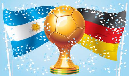Alemania Argentina Campeón final 2014 partido Vectores