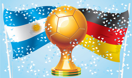Germany Argentina  Final Champion 2014  match  Vector