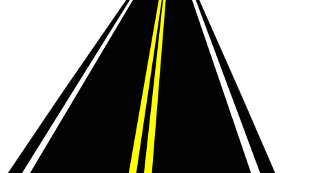 Road  Chaussee  Asphalt road  Trassa marked with yellow and white stripes  Vector