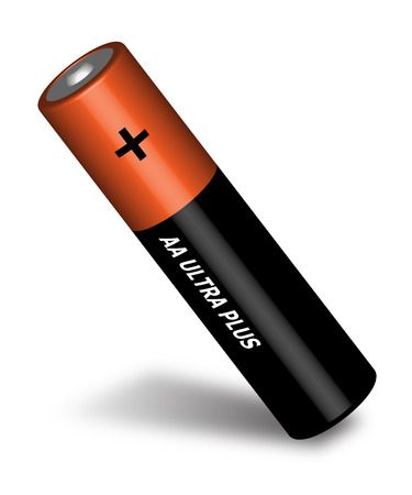 Penlight battery. Brown battery. Cylindrical battery.