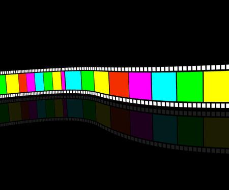 Video tape. Color kinomatohrafichna tape. Film strip horizontally. Vector
