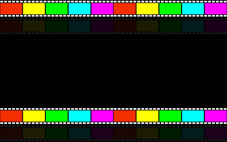 Cinematic background. Tape film. Videotape. Background for video presentations. Vector