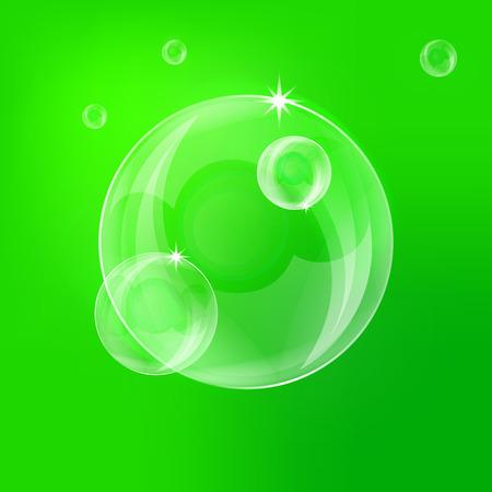 The green balloon. Vector