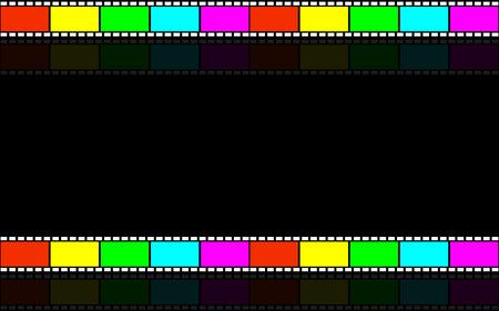 triptico: Fondo cinematográfico. Película de cinta. Videotape.