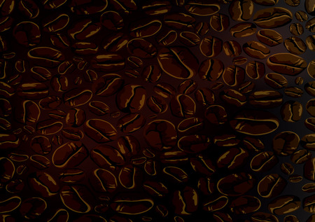 high angle view: Background from coffee beans