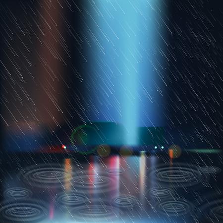 Men and women in the rain: Mưa nặng hạt