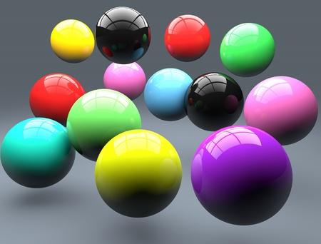 Polymer balls photo