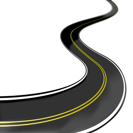 Road winding highway Vector
