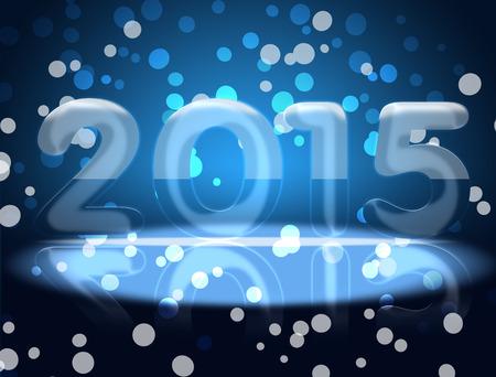 New 2015. Approaching 2015. With the new 2015 year. photo