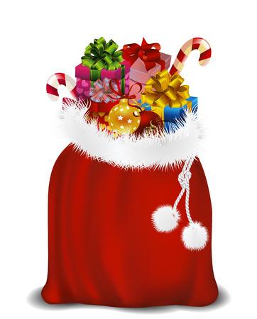 sinterklaas: Bag of Santa Claus. Bag of St. Nicholas. Bag with gifts.