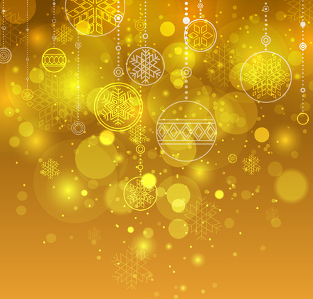 Winter background. Orange christmas background. Festive New Year background. Vector