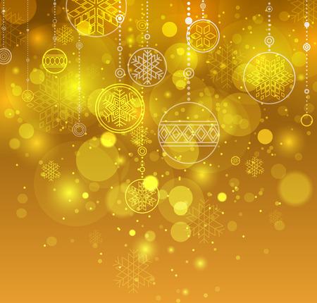 Winter background. Orange christmas background. Festive New Year background. Vector