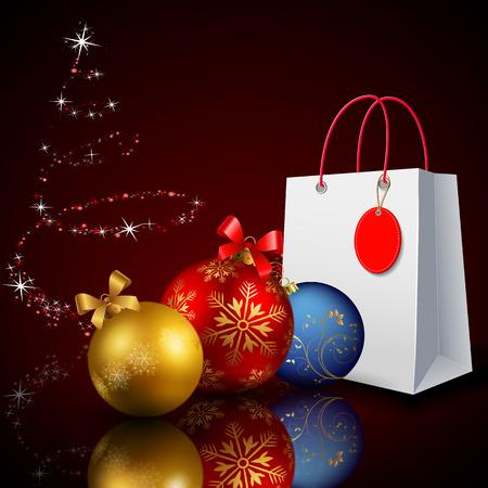 クリスマス割引。クリスマスの買い物。休日の昇進。